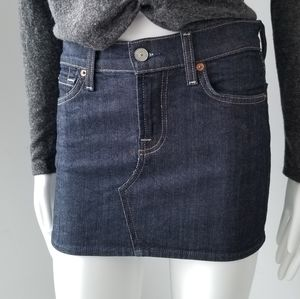 7 For All Mankind Roxy Denim Skirt 25